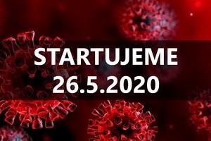 Startujeme 26.5.2020